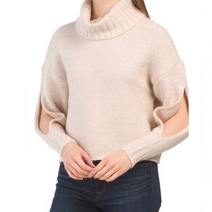 KENDALL + KYLIE Mossy Cowl Slit Sleeve Sweater